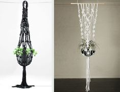 A macrame plant hanger is a great idea for any space. Throw it back to style with an adorable macrame plant hanger! Add more greenery and life to room! Macrame Plant Hanger Patterns, Free Macrame Patterns, Macrame Plant Holder, Macrame Plant Hangers, Plant Holders, Diy Macrame, Diy Hanging Planter, Hanging Plants, Rope Plant Hanger