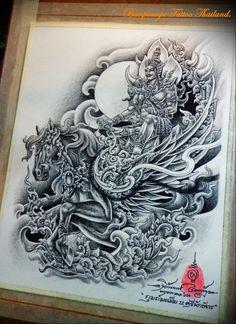 Dragon Tattoo Full Back, Thailand Tattoo, Thai Tattoo, Thai Art, Education Humor, Thai Style, Blog Design, Animal Quotes, Blogger Themes