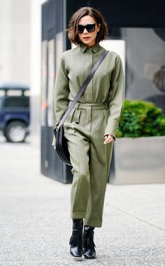 Victoria Beckham from Best Celeb Street Style From NYFW Winter 2018 If VB's fashions are indicative of a post-apocalyptic world, we're there for it.