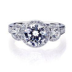 Platinum Plated Sterling Silver Wedding & Engagement Ring Three Stone Halo Ring, 2 Carat Center Stone Band Width 3MM ( Size 5 to 9), http://www.amazon.com/dp/B00DD63CUS/ref=cm_sw_r_pi_awdm_kaJdub1TWR9XY