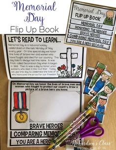 Memorial Day flip up book activity is perfect for integrating reading, writing, and social studies as little learners learn all about memorial day!