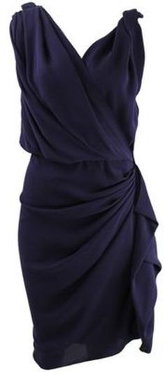 Lanvin Dress in  (violetblue) | Lyst...that looks like it would be so flattering on!