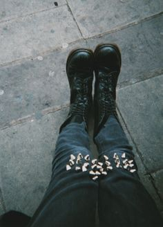 boots, jeans, spikes, studs