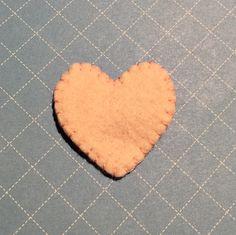 Pink heart felt pin