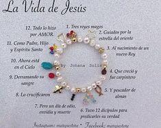 Marys e-Store Johana Mejía de MaryseStore en Etsy beachjewelry Bracelet Crafts, Jewelry Crafts, Jewelry Art, Beaded Bracelets, Handmade Beaded Jewelry, Beaded Jewelry Patterns, Salvation Bracelet, Faith Crafts, Religious Jewelry