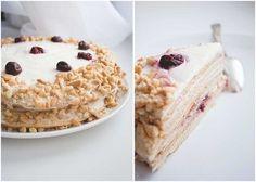 Cake «Madonna» Ingredients: Korzh: 1 tbsp. sugar 1 / 4-1 / 3 tbsp. cream Article 1-1.5. l. honey 1 h. L. soda 60-80 g of soft butter 3 tbsp. flour...