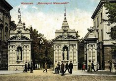 Warsaw. University gates around 1900.