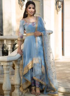 Anarkali - Salwar Kameez, Dresses, Suits & More! Pakistani Fancy Dresses, Party Wear Indian Dresses, Indian Gowns Dresses, Indian Fashion Dresses, Dress Indian Style, Indian Wedding Outfits, Indian Designer Outfits, Pakistani Outfits, Indian Outfits