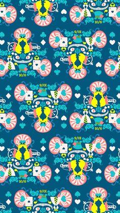 Free Alice in Wonderland inspired wallpaper downloads courtesy of Disney Style