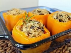 Mushroom Risotto Stuffed Peppers