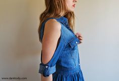 DIY Open Shoulder Dress - FREE Sewing Tutorial