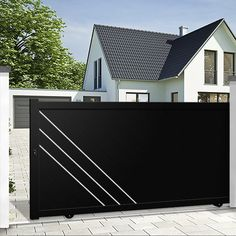 1#color-3 Driveway Landscaping, Driveway Gate, Fence Gate, Fences, Main Gate Design, Fence Design, Metal Gates, Iron Gates, Sliding Gate