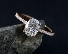 Forever One D-E-F Colorless Oval Solitaire Engagement Ring – Wedding Set – Comfort Fit Wedding Band Oval Solitaire Engagement Ring, Engagement Rings, Morganite Engagement, Diamond Bands, Halo Diamond, Wedding Sets, Wedding Bands, Infinity Band, Antique Wedding Rings