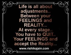 Life is all about adjustments