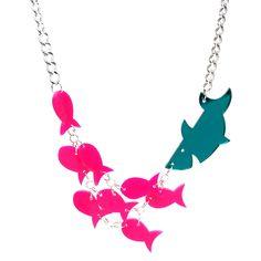 Hannah Zakari - Shark and Fishies Necklace #necklaces