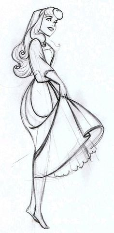 Briar Rose Sketch - I really love Walt Disney& concept behind the styling in this movie - one of my all-time favorites art-wise! Walt Disney, Disney Magic, Disney Art, Aurora Disney, Disney Cruise, Orlando Disney, Disney Animation, Drawing Sketches, Art Drawings