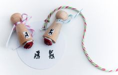 Deer mini stamp boy or girl by MissHoneyBird on Etsy, €3.95