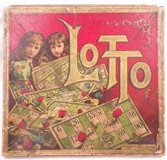 Antique Lotto Game Victorian Era McLoughlin Bros 24 Cards As Is #McLaughlinBros