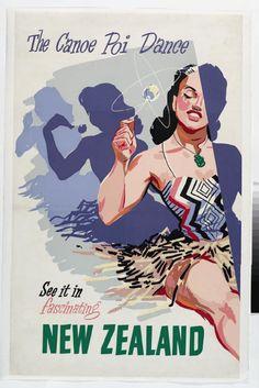 Canoe Poi Dance Poster, 1950s