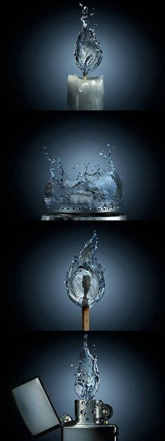 Funny pictures about If fire were water. Oh, and cool pics about If fire were water. Also, If fire were water. Michel Ciry, Creative Photography, Art Photography, Photography Editing, Splash Photography, Photography Tutorials, Digital Photography, Modelos 3d, Jolie Photo