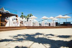 Shimmy Beach Club, bringing Ibiza to Cape Town Beach Club, Cape Town, Ibiza, Sun Lounger, Gazebo, Deck, Mansions, House Styles, Chaise Longue