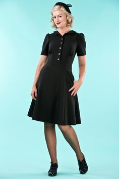 emmydesign - the miss fancy pants dress. black twill