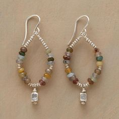 Sundance Catalog - Jasper Cubed Earrings Item No. 57592 $78.00 They say jasper attracts energy—as well as compliments!—to those who wear it. Sterling silver c...