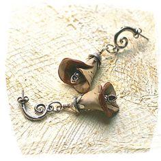 cowgirl flowers earrings by rocksandpaperswans on Etsy, $42.00