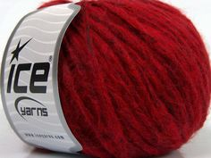 Fiber Content 60% Merino Wool 25% Polyamide 15% Acrylic Red Brand Ice Yarns fnt2-46911