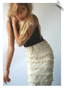 Eco-fashion from Natural Clothing Company: Organic skirt from 91% Organic Cotton, 9% spandex