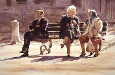 """""""Girls' Talk"""" Brussels Belgium 1997 - Robert Wade"""