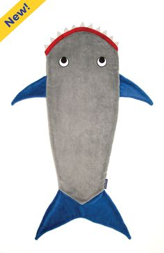 Shark Blanket by Blankie Tails - Gray and Deep Blue from Blankie Tails