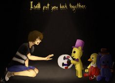 Fnaf 4 - I will put you back together by Skywerse on DeviantArt Freddy S, Good Horror Games, Ill Be Here, Fnaf Sister Location, Fnaf 1, Tomorrow Is Another Day, Freddy Fazbear, Dont Cry, Fandom