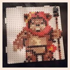 Ewok Star Wars hama beads by celdara