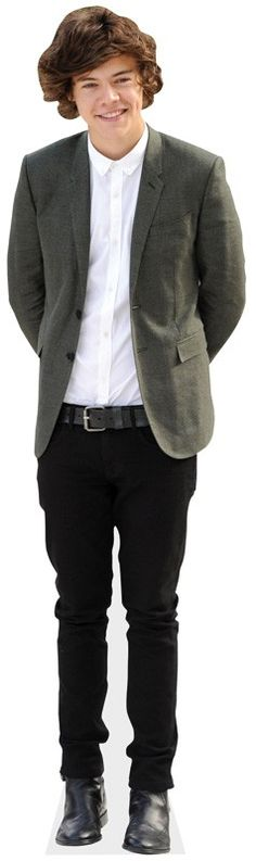 harry styles grey suit life size cardboard cutout real stand up free uk de