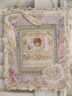 Vintage Fairy Fabric Collage