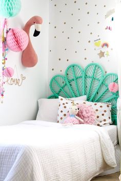 cute little girls bedroom - room tour, more on the blog