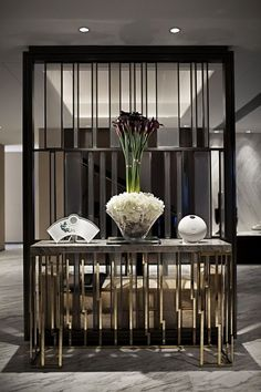 43 Stunning Modern Partition Design Ideas For Living Room Luxury Interior, Modern Interior, Interior Design, Interior Paint, Interior Decorating, Console Design, Wall Design, House Design, Modern Hallway