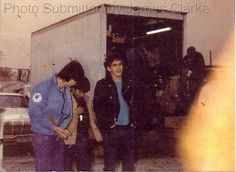 Matt Dillon on the set of The Outsiders
