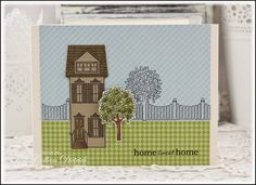 Dietrich Designs - Home Sweet Home.  I used Boards & Beams from Papertrey Ink for this new home card, and the sentiment is from PTI's Daily Designs Sentiments.