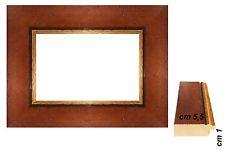 Cornice Noce Antico per quadri  spessore front. cm 5,5 - Cornici per foto