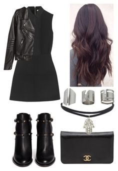 """""""Untitled #264"""" by tellmewhyjo on Polyvore featuring beauty, Victoria Beckham, H&M, Valentino, Topshop and Chanel"""