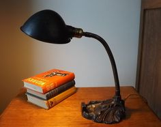 Your place to buy and sell all things handmade Desk Lamp, Table Lamp, Retro Lamp, Vintage Lamps, Metal Casting, Fabric Covered, Old Things, Art Deco, Industrial