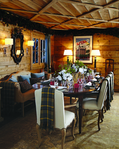 If you are decorating your chalet or wooden cabin, these ideas may be of use for you. Today we are having a look at chalet dining rooms and zones . Chalet Style, Lodge Style, Chalet Interior, Interior Exterior, Interior Design, Cabin Interiors, Lodge Decor, Ski Chalet Decor, Cabins And Cottages