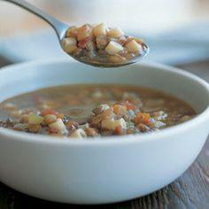 Lentil Soup with Pasta. Best Lentil soup in Miami: http://www.nunziospastagrill.com/menu2.html