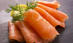 Finnish food : rawsalted salmon fish.exellent on bread.