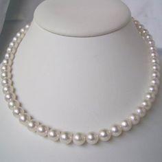送料無料 - 伊勢志摩産和珠本真珠 7.5?8.0mm パールネックレス Pearl Necklace, Pearls, Jewelry, String Of Pearls, Jewlery, Beaded Necklace, Bijoux, Jewerly, Beads