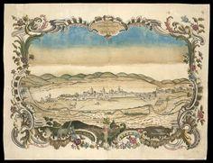 Dezenho por idea da cidade de São Paulo. Este mapa confecionado em nanquim, sem autor identificado, registra São Paulo no século 18.  Este desenho faz parte da coleção do Arquivo de Mateus adquirido pela Biblioteca Nacional.