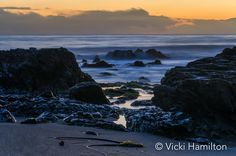 A beautiful ending to a perfect day.  Winter sunset at Cambria, California, USA.