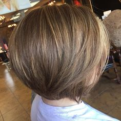 Golden brown bob with sun kissed highlights. #cowanandco